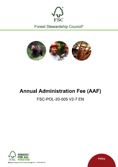 FSC AAF Policy cover